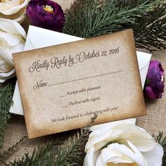 Response cards to go with any wedding invitation set by PAPER & LACE!
