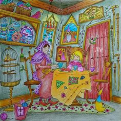 女巫與小女孩 2016.04.13.NO127 Romantic Country Eriy by Japan COLLEEN775 Faber-Castell…