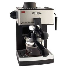 Mr. Coffee 4-Cup Steam Espresso System with Milk Frother, ECM160 * This is an Amazon Affiliate link. Click image for more details.