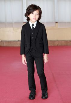 "This looks like a mini version of the hit men in ""Reservoir Dogs"" - LOVE. GENERATOR__japanese kids clothes brand"