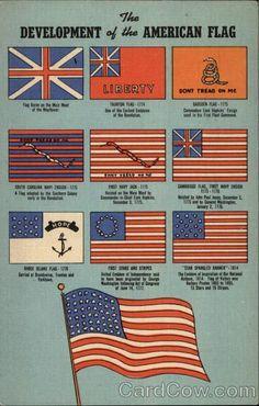 The Development of the American Flag. #OldGlory #StarsandStripes