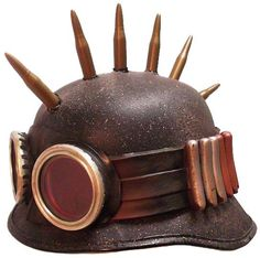 Steampunk Army Biker Helmet Post Apocalypse Military Hat. $75.00, via Etsy.