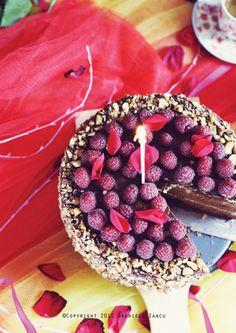 The Love Cake - Raspberry, Nut Ganache, Chocolate Praline Mousse, Cocoa Sponge Cake by Gabriela Iancu