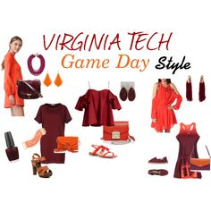 Virginia Tech Game Day Style by divinestyle-1 on Polyvore featuring Cynthia…