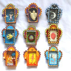Divine Mexican altar boxes.
