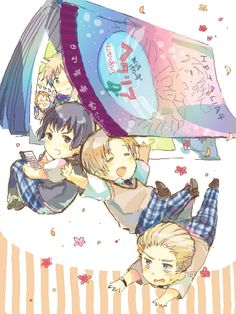 "I am in love with the concept of Gakuen Hetalia! And ""Gakuen Fiesta"" is one of my favorite songs now!"