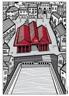Mercado do Peixe, Aveiro - Tiago f Moura Pisces, Ideas For Drawing, Illustrators