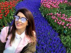 Bom dia com todas as cores do Parque das Tulipas em Amsterdam na foto da linda @yiota_arakliti com seu Dior Ama Club  #oticaswanny #dioramaclub #tulipsgarden #amsterdam #yiota_arakliti #dior