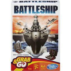 Hasbro Gaming Battleship Grab & Go Game Battleship Game, Open Games, Go Game, Version Francaise, Fun Games For Kids, Kid Games, Game Sales, Submarines, Shopping