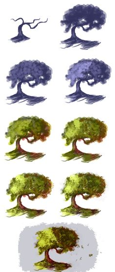 Tree - step by step by ryky on deviantART