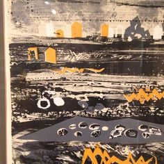 Enjoyed the REALLY wonderful John Piper show at today, amazing body of work to get to enjoy and see up close. This is a detail from a lithograph called 'Brittany Beach'. Collage Illustration, Collage Art, Collages, Fun Art, Cool Art, Angie Lewin, Winter Moon, John Piper, Amazing Body