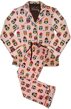 "PJ Salvage Women's Fall Into Flannel ""Owl Friends"" Flannel Pajama Set in Pink $63 - SHOP http://www.thepajamacompany.com/store/product.php?productid=18794&cat=254&page=2"