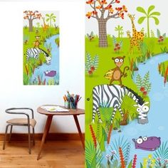 Tableau Au bord de l'eau, tableau idéal pour décorer une chambre d'enfant