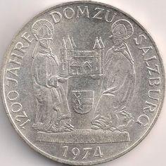 Motivseite: Münze-Europa-Mitteleuropa-Österreich-Schilling-50.00-1974-Dom zu Salzburg Austro Hungarian, Salzburg, Dom, Coins, Rooms