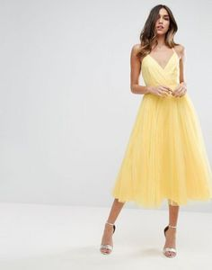 ASOS Pinny Extreme Tulle Mesh Midi Dress