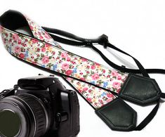 Flowers Camera strap. Floral camera strap. DSLR Camera by InTePro