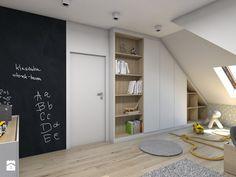 (Dom w okolicy Lublińca) Dom jednorodzinny 7 - Duży pokój dziecka dla chłopca dla malucha, styl skandynawski - zdjęcie od BAGUA Pracownia Architektury Wnętrz