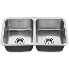 Danville 32x18 Double Bowl Kitchen Sink Shown In 075