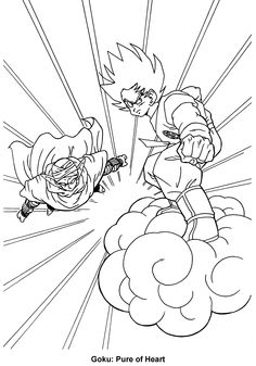 Goten from Dragon ball Z coloring pages for kids, printable free ...