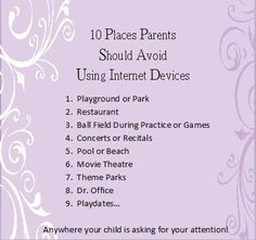 Remember, how you use #technology as a #parent could set an example for your #children!