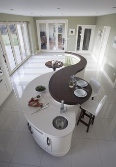 Creative Wood Kitchens Kitchen Design, All ireland Kitchen Guide, Curved island,Island seating area