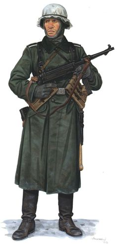 german infanterie division winter pin by Paolo Marzioli Ww2 Uniforms, German Uniforms, German Soldiers Ww2, German Army, Military Figures, Military Art, Luftwaffe, Soldado Universal, History