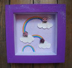Hey, I found this really awesome Etsy listing at https://www.etsy.com/listing/174679852/diorama-frame-the-rainbow-town