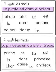 Discover recipes, home ideas, style inspiration and other ideas to try. Kindergarten Vocabulary, Kindergarten Lessons, Vocabulary Activities, Kindergarten Worksheets, French Language Lessons, French Education, Teaching French, French Teaching Resources, Teaching Ideas