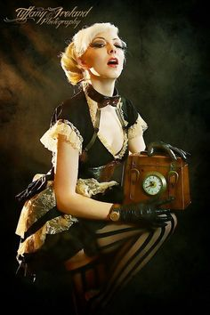 Steampunk its more than an aesthetic style, it's the longing for the past that never was. In Steampunk Girls we display professional pictures, and illustrations of Steampunk, Dieselpunk and other anachronistic 'punks. Some cosplay too! Steampunk Cosplay, Steampunk Clothing, Steampunk Fashion, Steampunk Outfits, Death Metal, Cyberpunk, Rockabilly, Steam Girl, Steam Punk