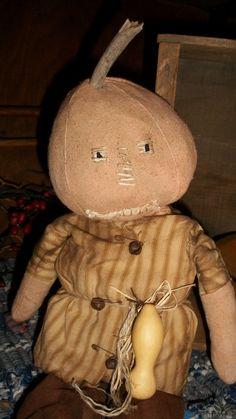 Barley Brown a Boy Pumpkin Doll by countrypresence on Etsy