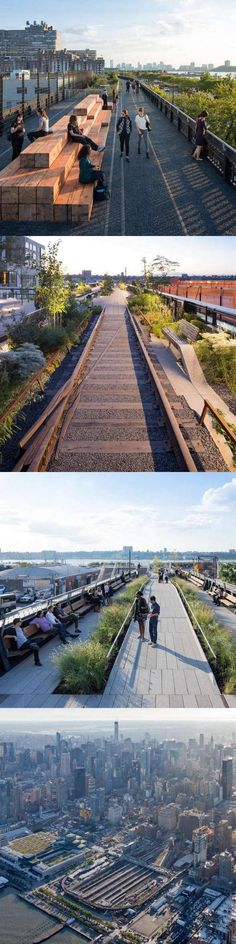 The third and final phase of New York City's High Line opened to the public in September 2014. Click image for link to full profile and visit the slowottawa.ca boards >> https://www.pinterest.com/slowottawa/