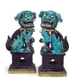 Chinese Export buddhist lions at Christies