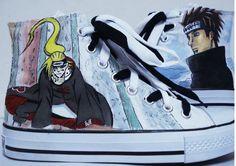 naruto shoes hand painted naruto shoes pain lookes like deidara