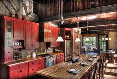 дневник дизайнера: Интерьер деревянного дома в стиле американского ранчо
