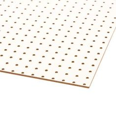 null White Peg Board (Common: 3/16 in. x 2 ft. x 4 ft.) $8