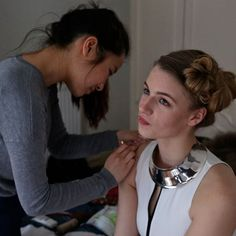 Working behind the scenes on my first #sfl48hr with @charli_meredith  Credit to 'Stills Photographer', Rebecca Culverhouse for the photo! @shrebecca #scifi #futuristic #cyborg #android #shortfilm #challenge #2016 #hairandmakeup #sfx #makeup #artist #fun #freelance