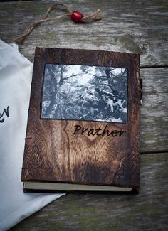 Personalized Rustic Photo Cover Journal and Pen set