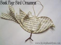 Super cute! DIY 3D bird