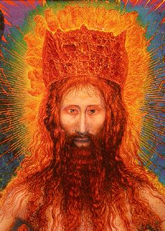 THE TRANSFIGURATION OF THE RESURRECTED detail Ernst Fuchs