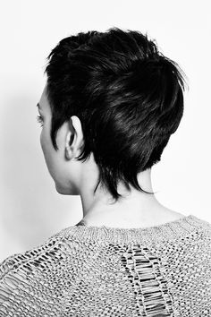 Asymmetrical pixie haircut - reminds me a bit of Salander in The Girl with the Dragon Tattoo
