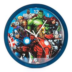 Add the finishing touch to any Marvel themed bedroom with this official wall clock. The clock face features a fantastic image of The Avengers, including Thor, The Hulk, Captain America, Iron Man, Hawkeye, Black Widow and Falcon. The large numbers and hands on the clock also make it ideal for... - http://kitchen-dining.bestselleroutlet.net/product-review-for-zeon-horloge-murale-avengers-24cm-5013348005137/