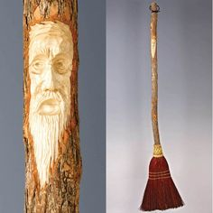 Carved Kitchen Broom In Rust by BROOMCHICK on Etsy, $72.00