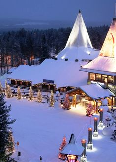 Santa Claus Village - Rovaniemi in the Lapland region of Finland. /lnemni/lilllyy66/ Find more inspiration here: http://weheartit.com/nemenyilili/collections/88742485-travel All Things Christmas, Winter Christmas, Winter Snow, Santa Christmas, Christmas Scenery, Santa Claus Village, Santa's Village, Santa Clause, Finland Travel