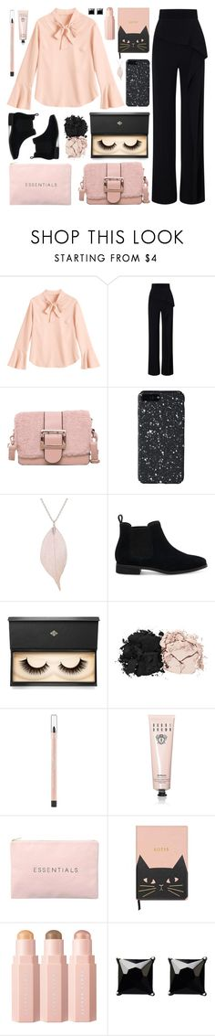 """""""Pastel blouse"""" by deeyanago ❤ liked on Polyvore featuring Roland Mouret, TOMS, Lash Star Beauty, Estée Lauder, Maybelline, Bobbi Brown Cosmetics, Puma and Witchery"""
