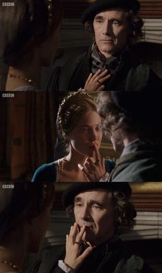 Wolf Hall 2: Entirely Beloved. Mark Rylance as Thomas Cromwell and Charity Wakefield as Mary Boleyn