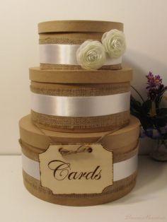 3 Tier Rustic Wedding Card Box Wedding Card Box by breezemountain8