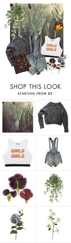 """""""I Got The Marfa Lights Deep Down In My Heart"""" by pyrokittenkat ❤ liked on Polyvore featuring American Apparel, Minga, UNIF and CC"""