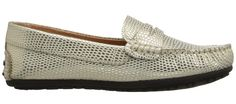 metallic shoes for kids   gold Mariel moccasins from Umi