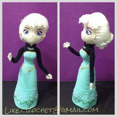 Elsa Frozen coronation day amigurumi pattern by LikeCrochet
