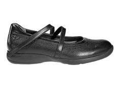 <p>There's nothing traditional about these mary janes. They've got a trendsetting asymmetric hook and loop strap with perforated pretty detailing. Even the outsole features Vibram® rubber for extra grip and stability.<p>